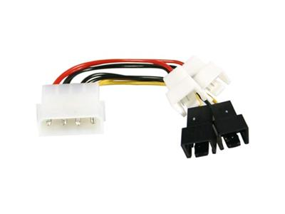 Adaptercable from 4-pin to 4x3-pin