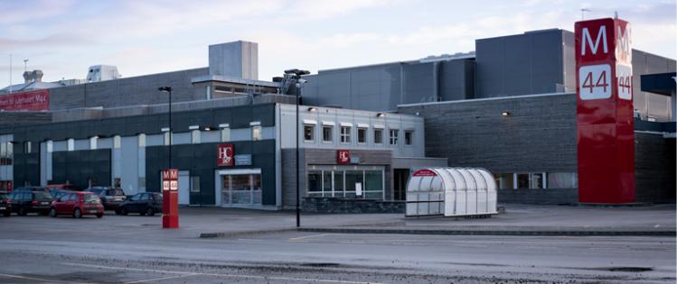 Fasaden til HCShop Bryne